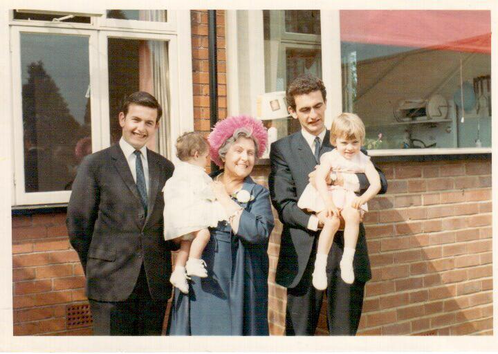 Sarah J's christening Jul 67